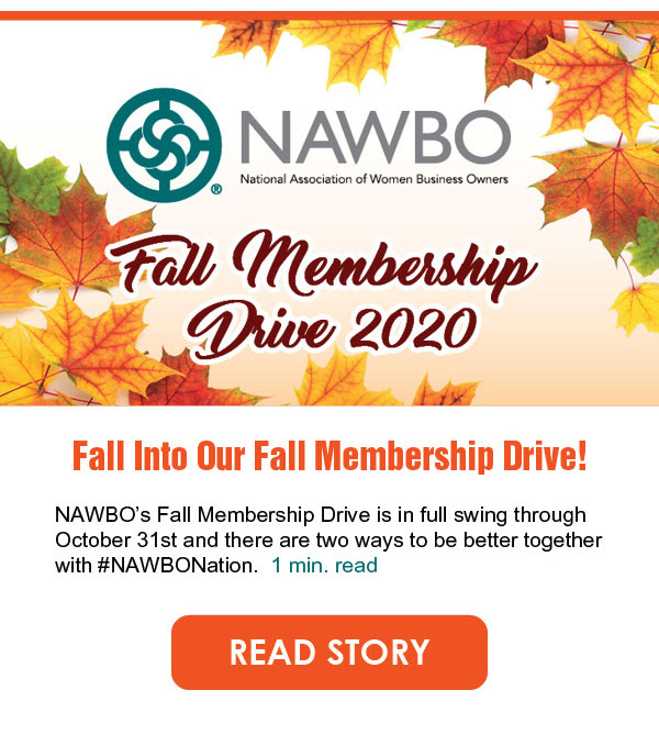 NAWBO's Fall membership drive is in full swing through October 31st